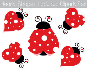 Bug clipart whimsical Whimsical Ladybug Lady Printable Lovebug