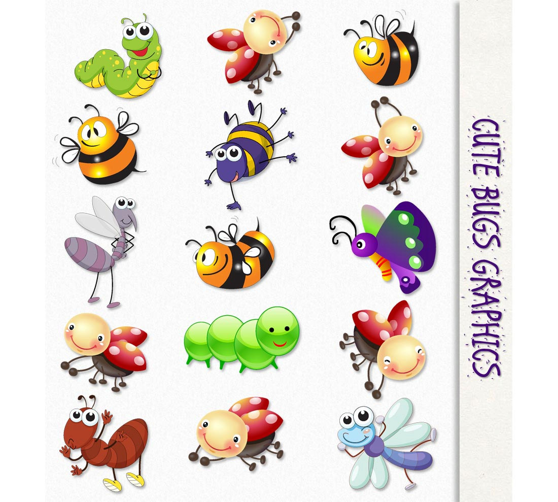 Bugs clipart Etsy PNG Bugs Scrapbook Graphic