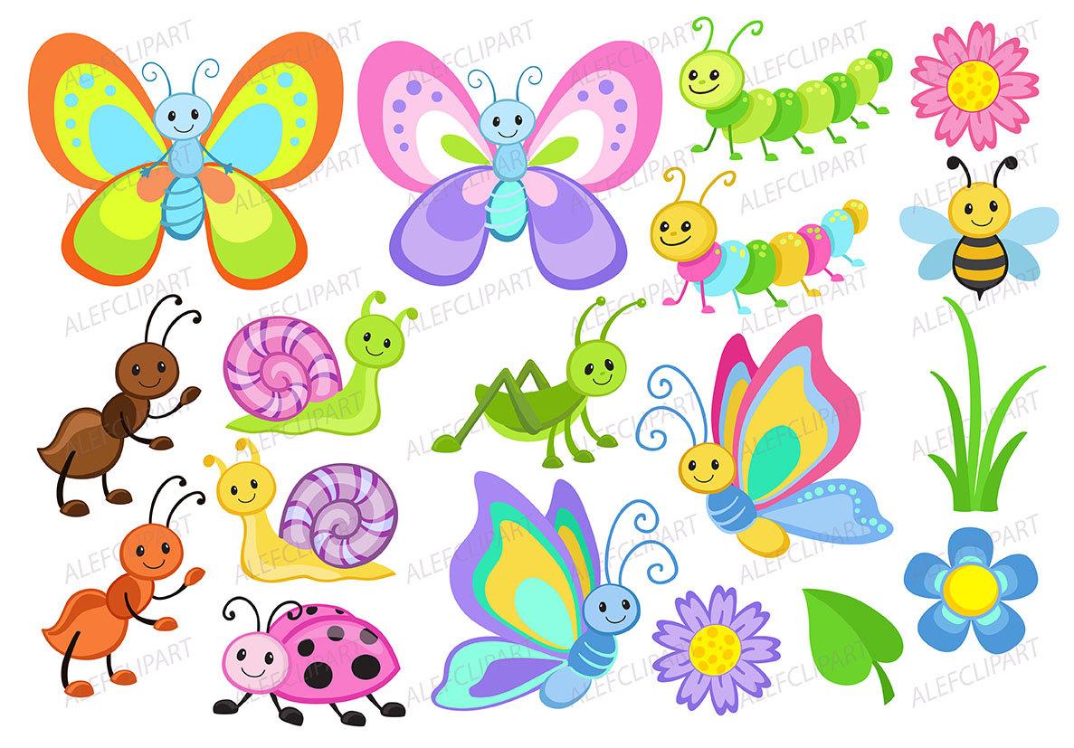Bugs clipart Clipart Clipart Set Cute Cute