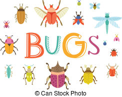 Bugs clipart  Fun Bugs Illustrations and