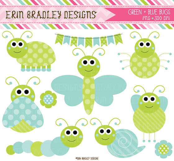 Bugs clipart bunch Bugs Erin and  Cute