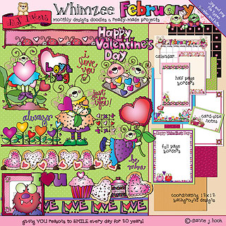 Bugs clipart february Download Animals: February Whimzee Clip