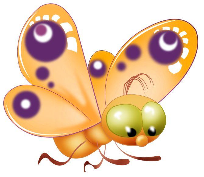 Bugs clipart orange butterfly & Find Pin best E
