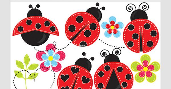 Bugs clipart pencil Stitched bugs cute  whimsical