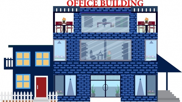Office clipart office building Architecture building brick vector Free