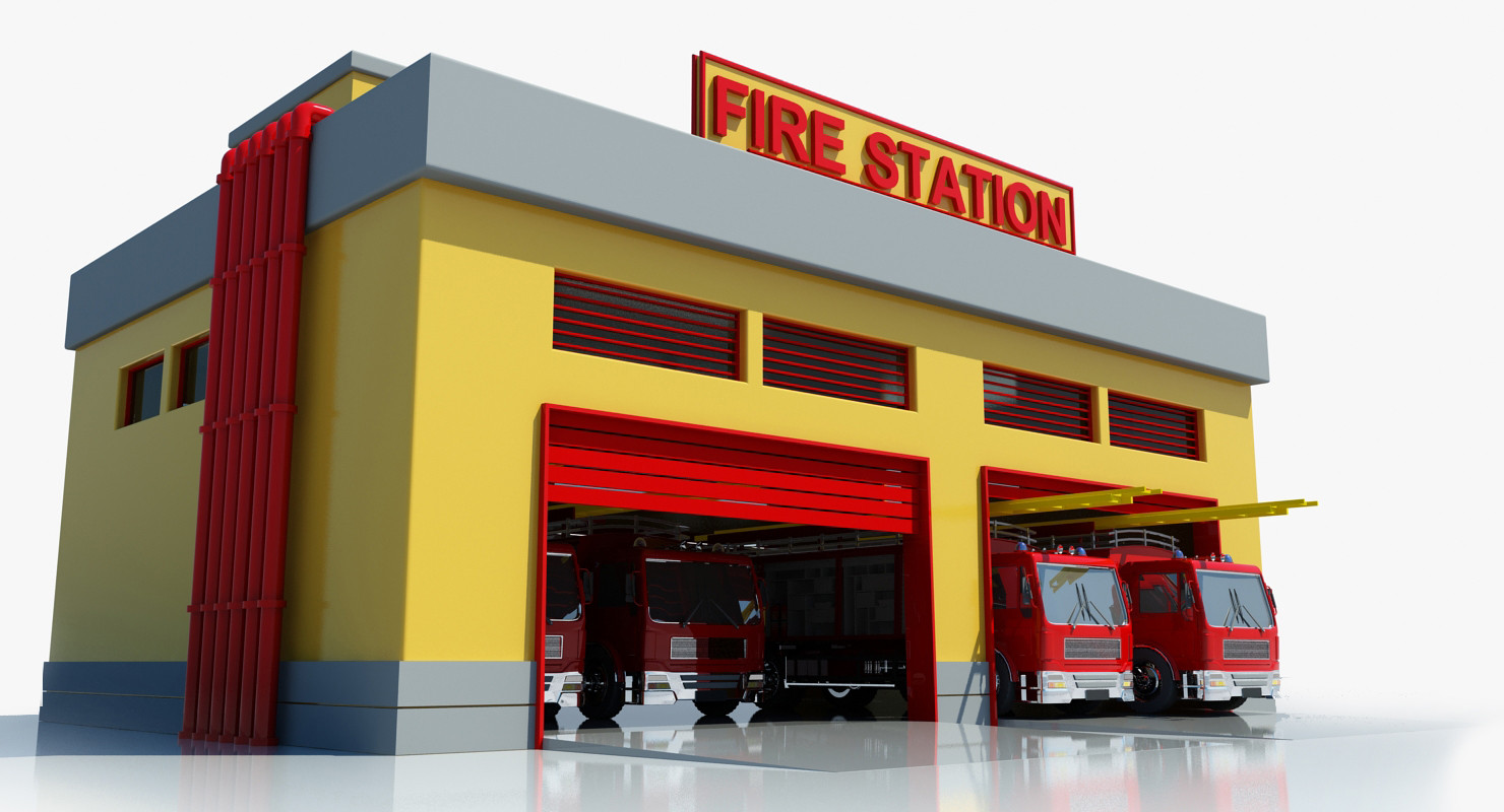 Firefighter clipart building Department Synkee fire free Fire