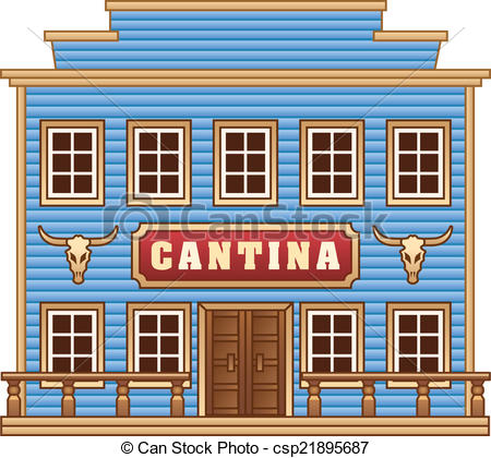 Building clipart old west Vector cantina cantina Wild West