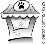 Building clipart pet shop Clipart Clipart Black White White