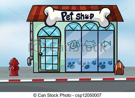 Building clipart pet shop Of Clipart Illustration shop Vector