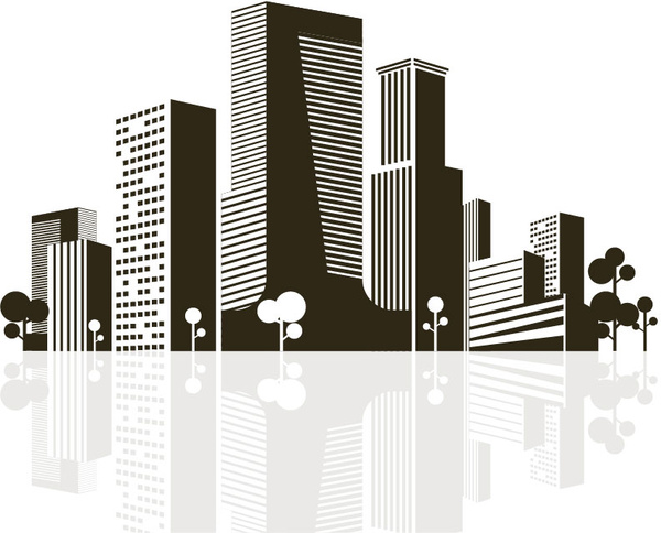 Cityscape clipart office building (46 vector) for 385 download