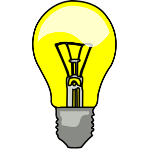 Idea clipart lighting bulb #9