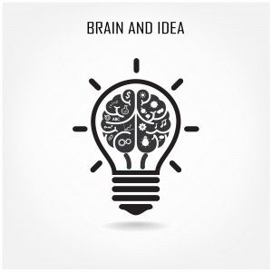 Bulb clipart brain Brain the Creative light Brain