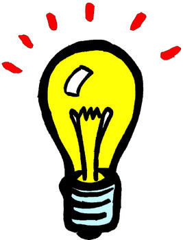 Bulb clipart helpful hint Hints Helpful (@hintsforliving) Hints Twitter