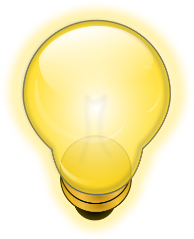 Bulb clipart helpful hint  Clip Image on Download
