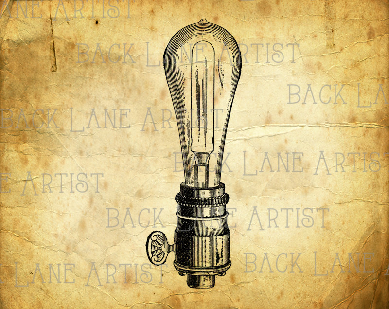 Bulb clipart here Line Art Instant PNG Clipart