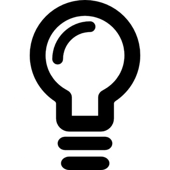 Bulb clipart ligt Outline Light Lightbulb Photos and