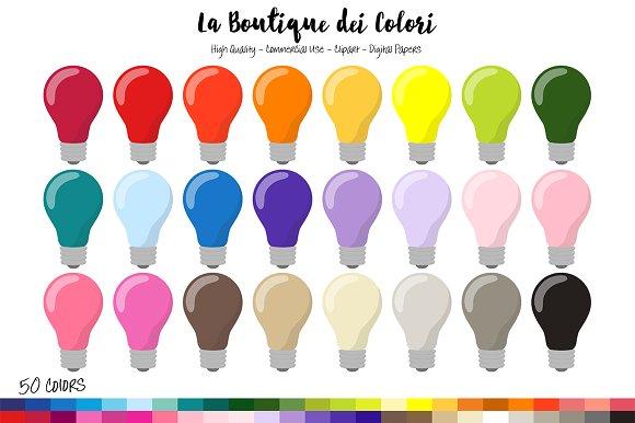 Bulb clipart rainbow light Rainbow 50 bulb Rainbow Clipart