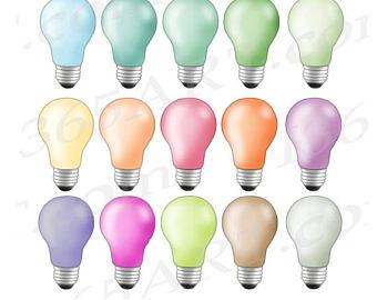 Bulb clipart rainbow light OFF ClipArt 50% Light bulb