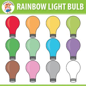 Bulb clipart rainbow light Light Rainbow Clipart Clipart V