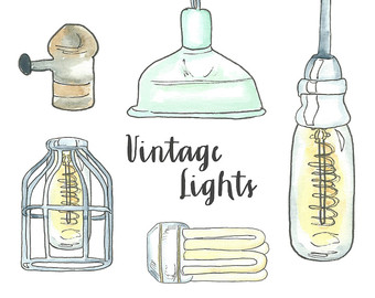Bulb clipart statement problem Vintage Lightbulb Edison clipart Etsy