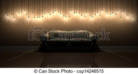 Bulb clipart wall lamp With Room  In Floral