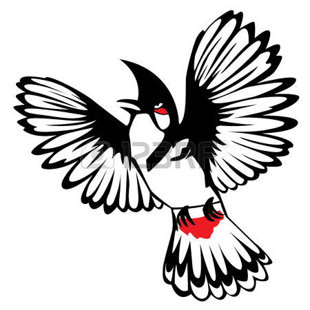Bulbul clipart black and white #12