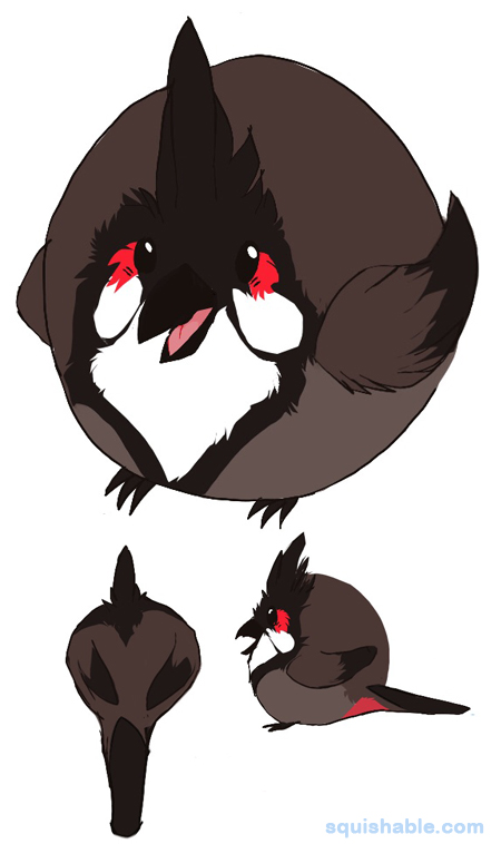 Bulbul clipart red whiskered Adorable Squishable Red Bulbul Red
