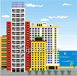 Bulding  clipart apartment complex Beach Complex Apartment Free the