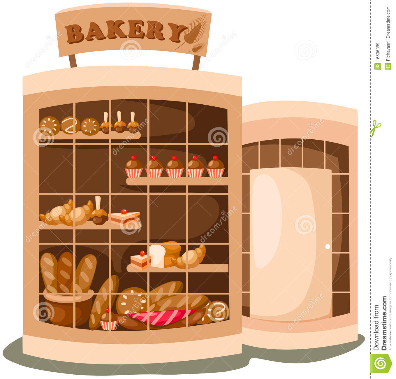 Display clipart baker Building Clipart Bakery