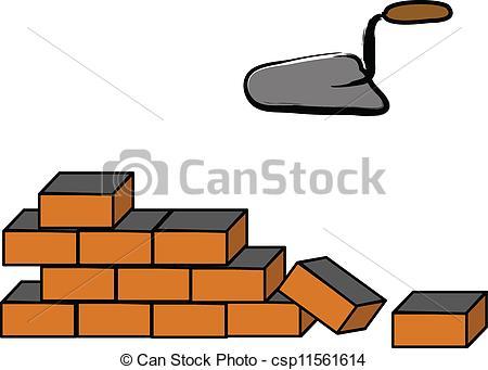 Brick clipart logo Vector Art brick wall Building