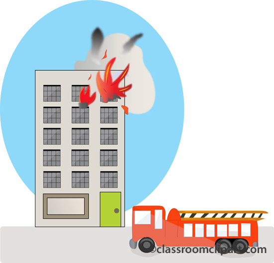 Building clipart buliding  Building Clipart On Fire