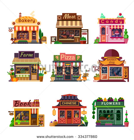 Building clipart candy store Candy shops shop meat bakery