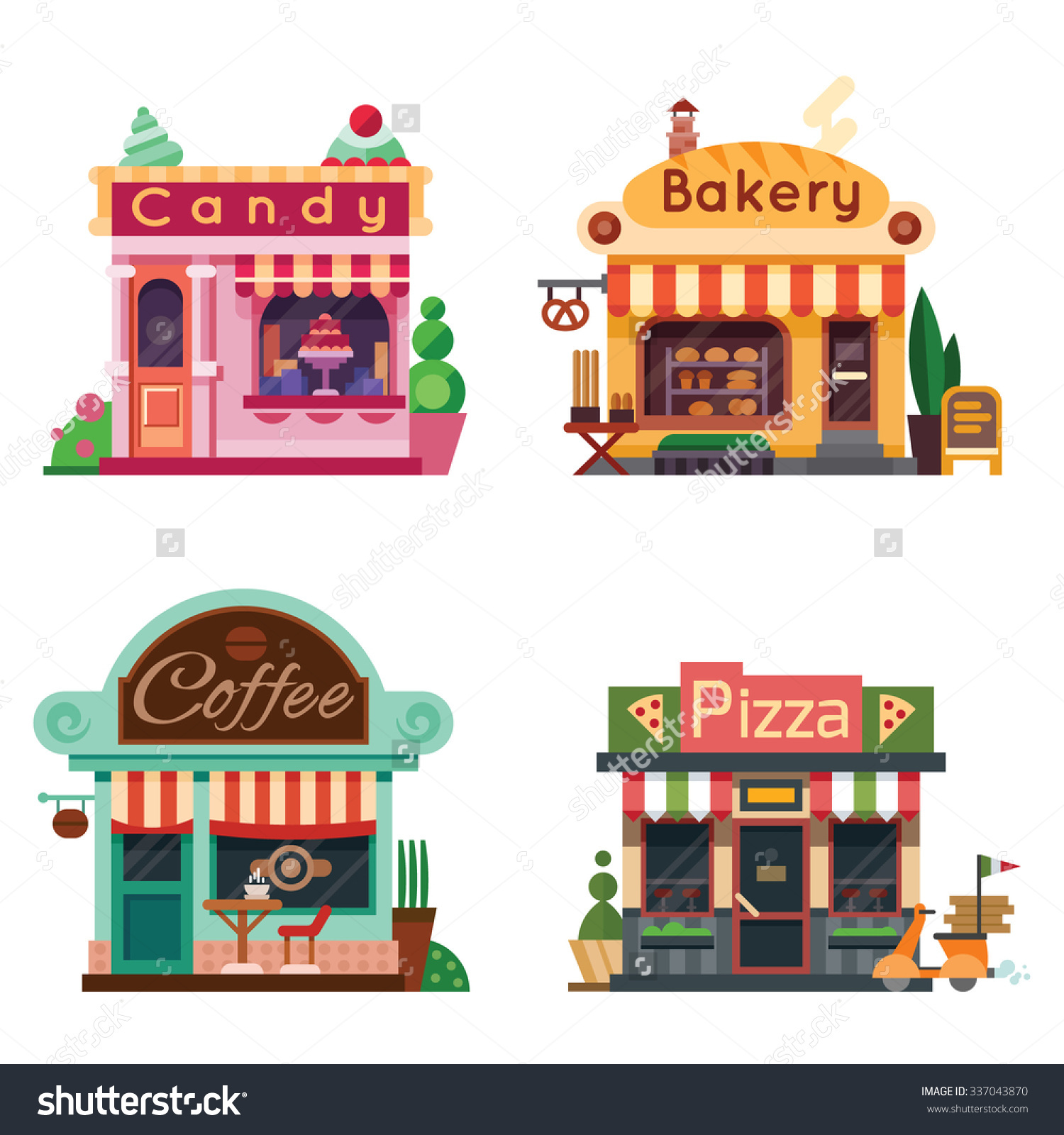 Building clipart candy store Pizza Shops Store Candy Bakery