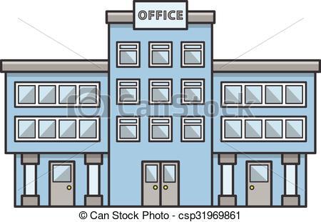 Structure clipart office building Art Doodle Vector  building