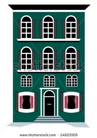 Bulding  clipart cartoon Cute Clipart Apartment Cartoon apartment