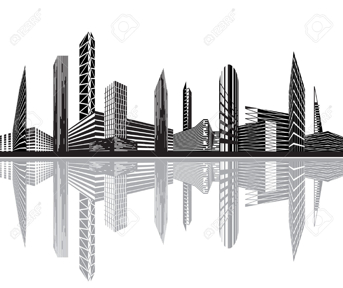 Building clipart city building Images Clipart Black (3620) City