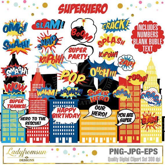 Building clipart comic book SuperHero Action Comic Clip Commercial