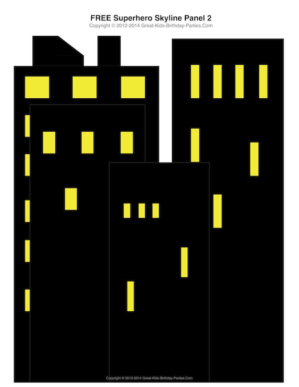 Building clipart comic book Printables Free  Building Superhero