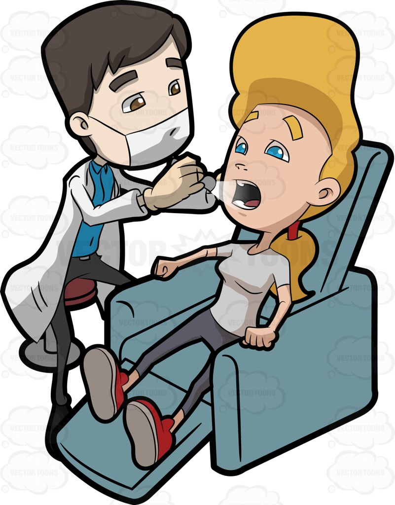 Check clipart relaxed person Clipart Dentists His The Cartoon