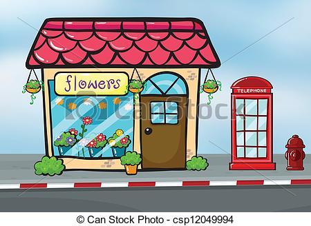 Structure clipart shop And csp12049994 shop Illustration callbox