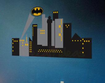 Building clipart gotham city Skyline Decal batman city Gotham