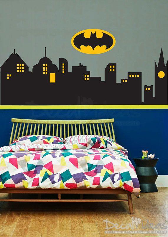 Building clipart gotham city Gotham Superhero Skyline Wall LogoETS50041