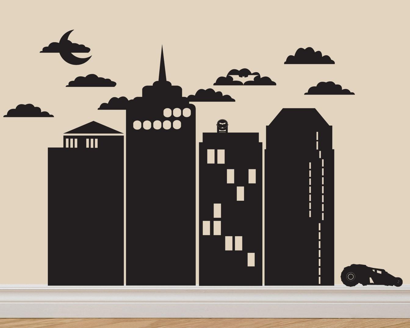Building clipart gotham city Pinterest skyline Tattoo images on