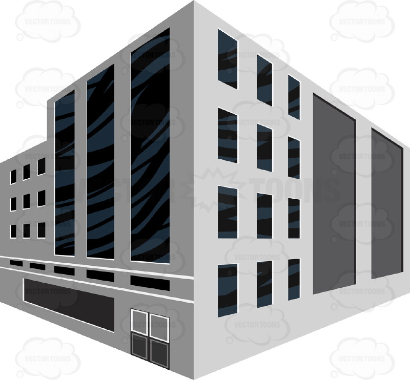 Building clipart roman empire Modern Building Gray With Perspective