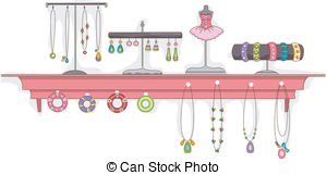 Necklace clipart jewelry display #7