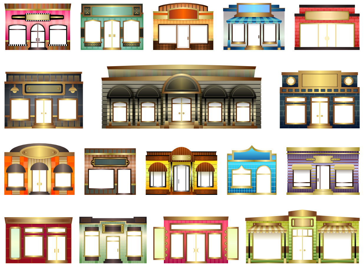 Building clipart jewelry store Fronts Inkscape for #4 Inkspiration