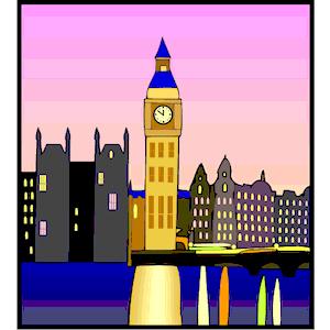 Bulding  clipart night Free gif) emf free download