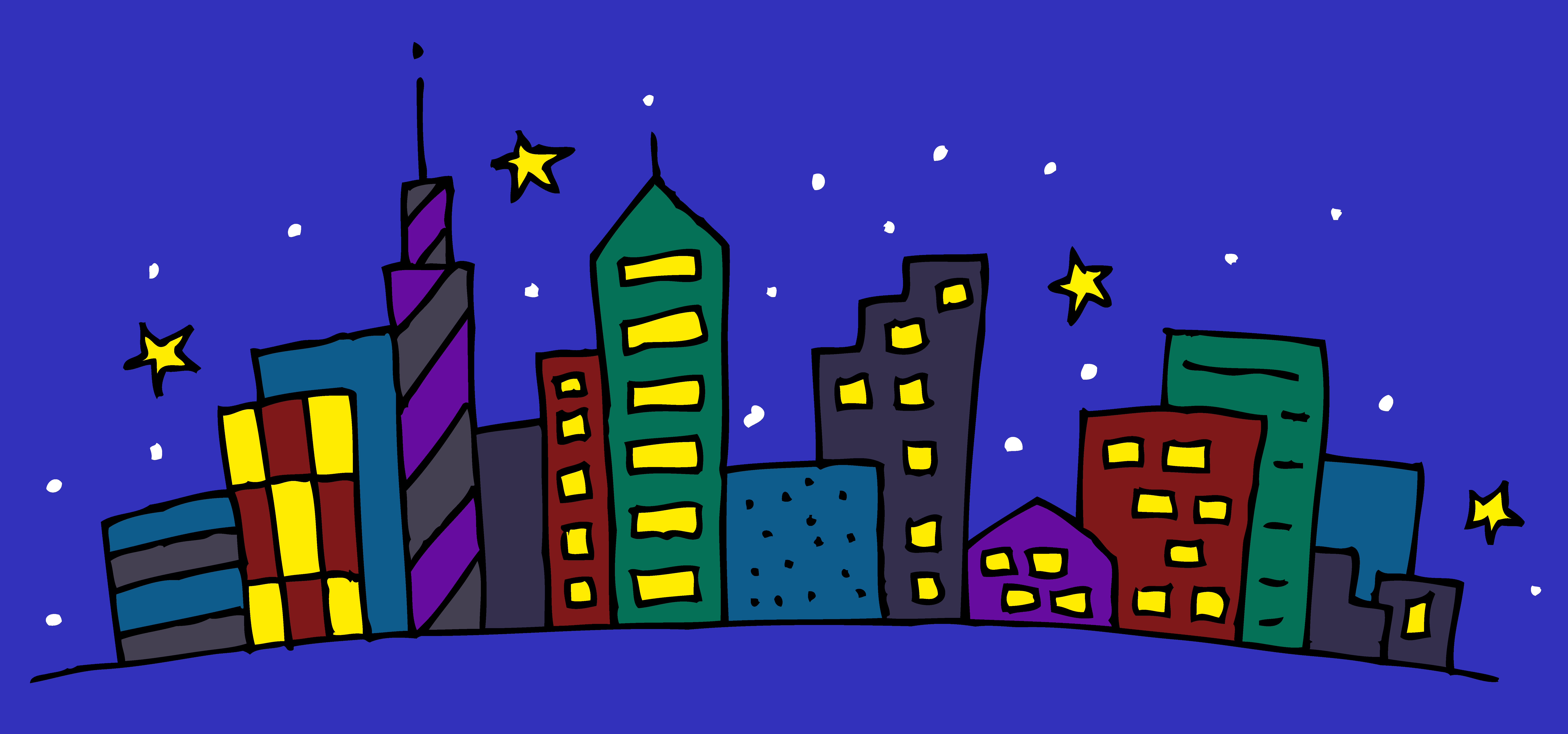 City clipart night time Clipart Buildings night night clipart