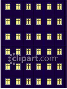 Bulding  clipart night Clipart Night Apartment At At