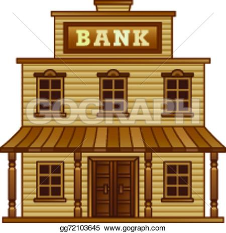 Building clipart old west Bank building Stock west Vector
